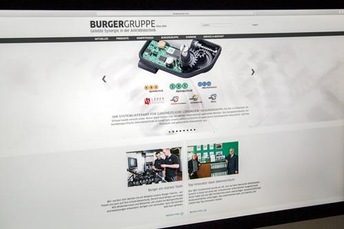 Neue Internetpräsenz für die Burgergruppe